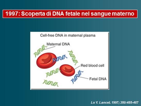Scoperta di DNA fetale nel sangue materno